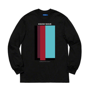 KNOW WAVE – VOLUME ISSUE L/S TEE (BLACK)