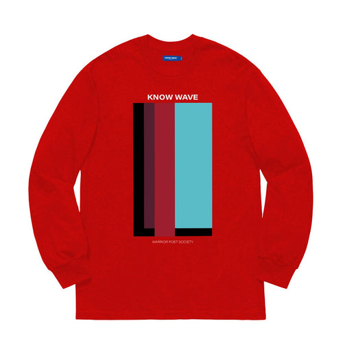 KNOW WAVE – VOLUME ISSUE L/S TEE (RED)