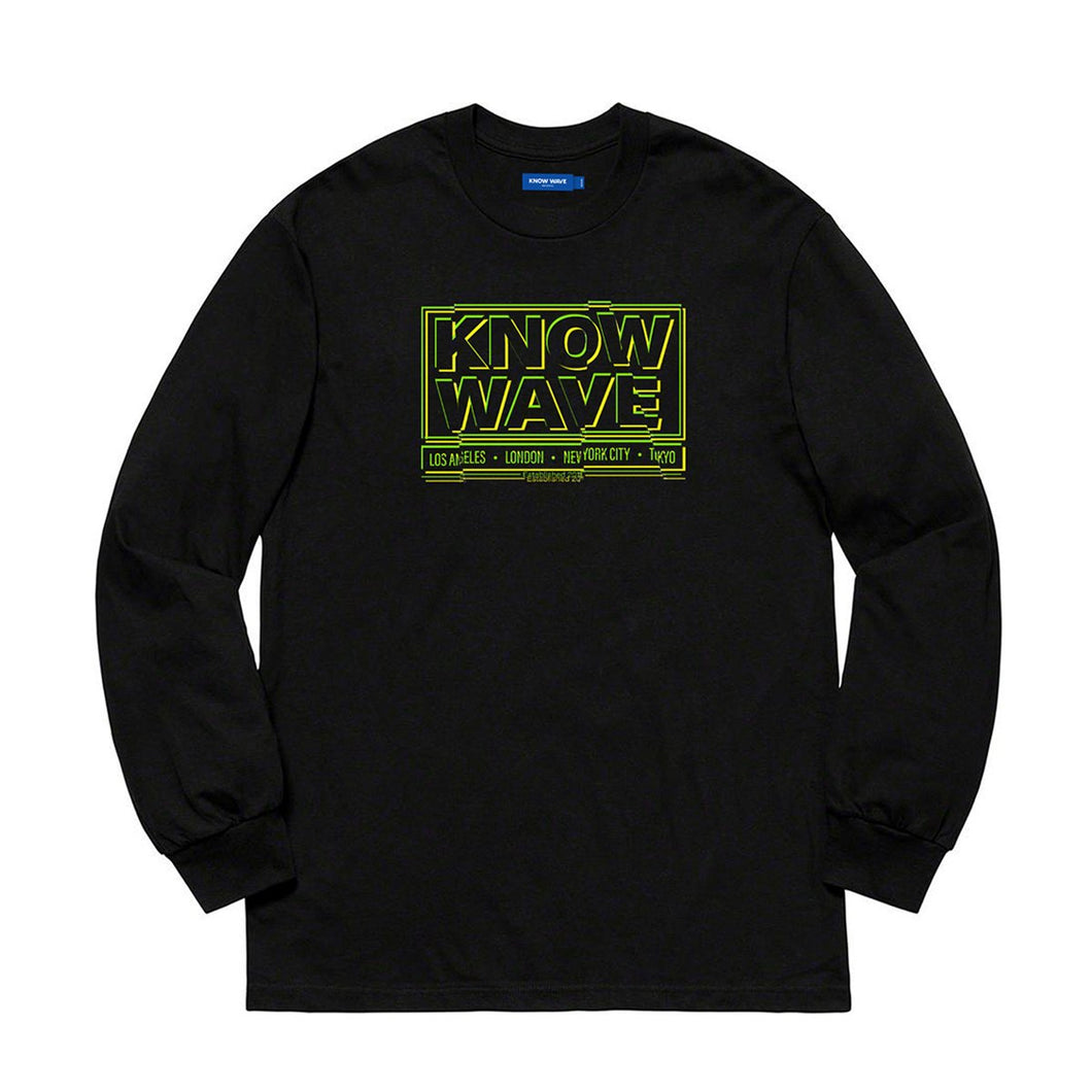 KNOW WAVE – CHOP IT L/S TEE (BLACK)