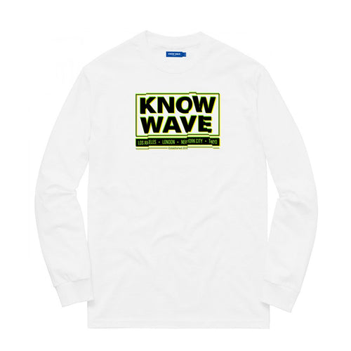 KNOW WAVE – CHOP IT L/S TEE (WHITE)