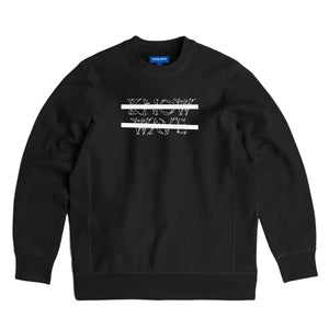KNOW WAVE – CLASSIC ANXIETY LOGO CREWNECK (BLACK)