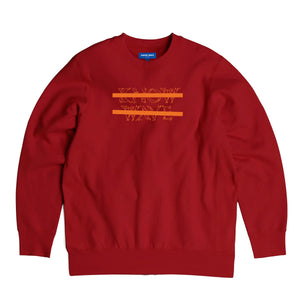 KNOW WAVE – CLASSIC ANXIETY LOGO CREWNECK (RED)