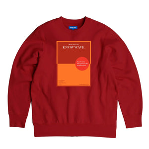 KNOW WAVE – WARRIOR POET SOCIETY CREWNECK (RED)