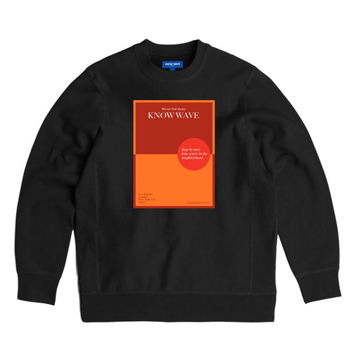 KNOW WAVE – WARRIOR POET SOCIETY CREWNECK (BLACK)