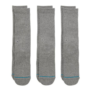 STANCE – ICON 3 PACK (GREY)
