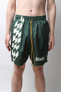 RHUDE – WARM UP SHORT (GREEN)