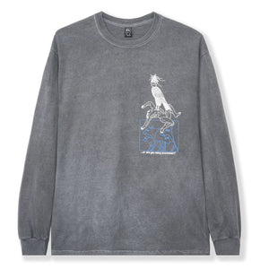 BRAIN DEAD – SMALL ANIMALS L/S (Washed Black)