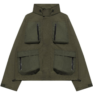 JOHN ELLIOTT – HIGH SHRUNK NYLON PARACHUTE JACKET (OLIVE)