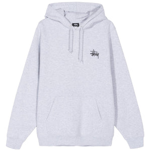 STÜSSY – BASIC STUSSY HOOD (ASH HEATHER)