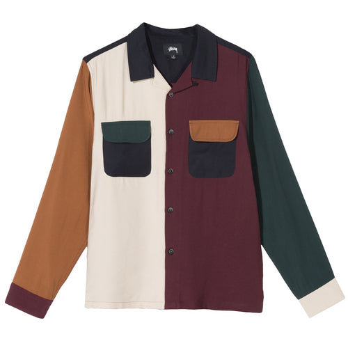 STÜSSY – COLOR BLOCK RAYON SHIRT (MULTI)