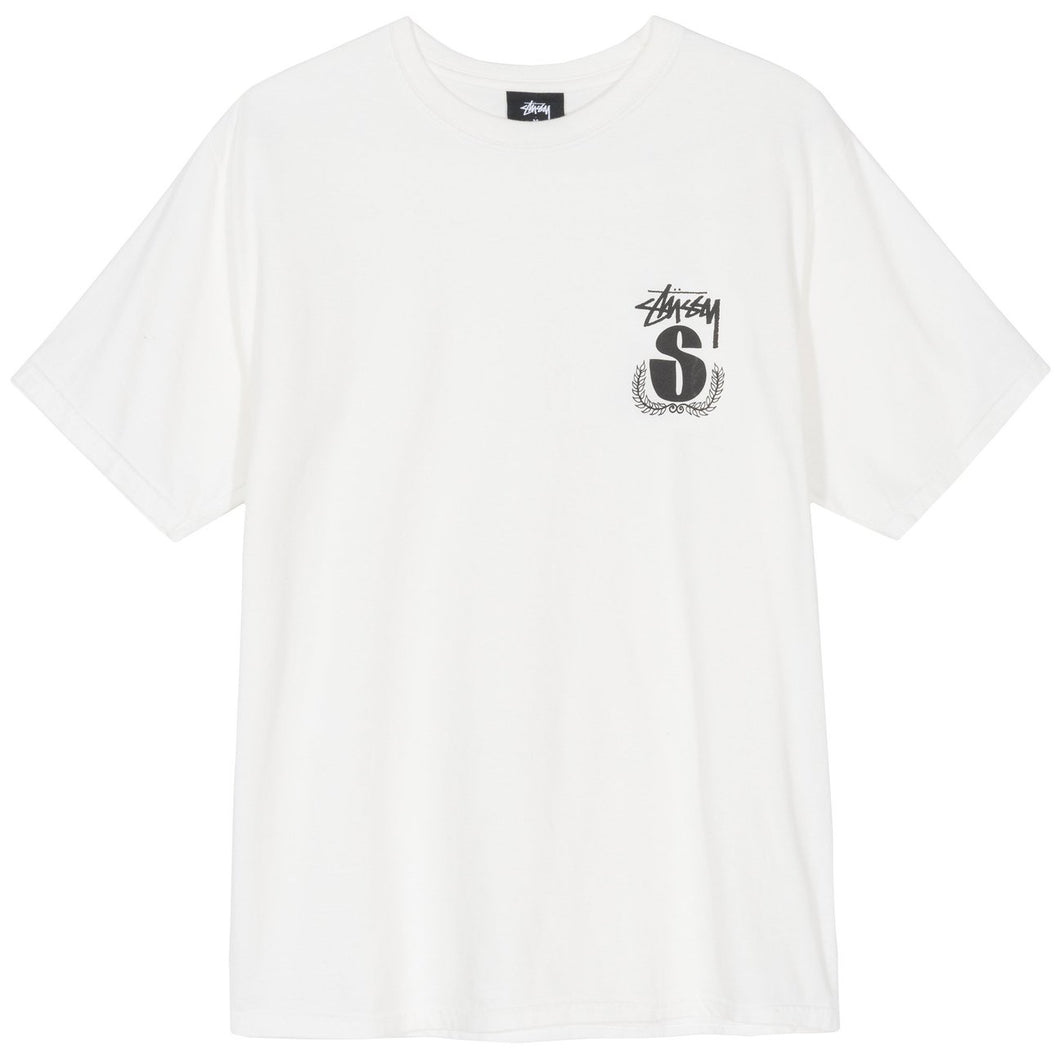 STÜSSY – S WREATH PIG. DYED TEE (NATURAL)