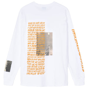 STÜSSY – GREAT OUTDOORS L/S TEE (WHITE)