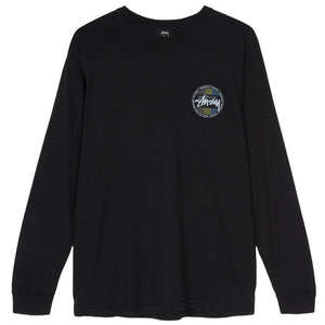 STÜSSY – SURF DOT PIG. DYED L/S TEE (BLACK)