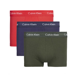 CALVIN KLEIN – 3 PACK LOW RISE TRUNK (LOLLIPOP/DUFFLE/PEACOAT)