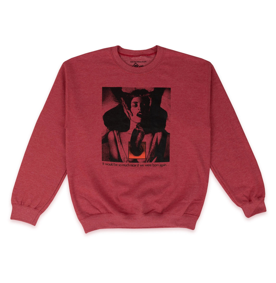 BOW3RY – BORN AGAIN SPORT CREWNECK (RED)