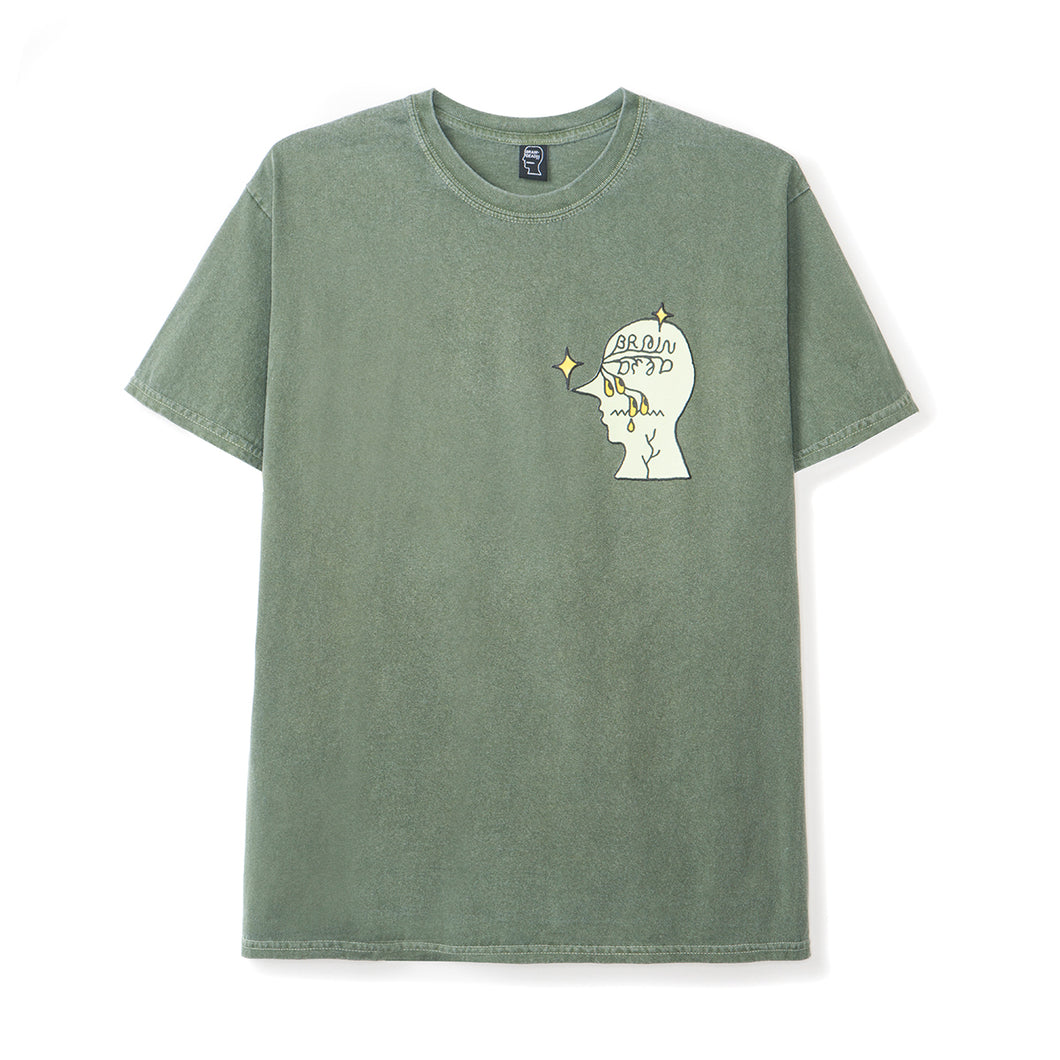 BRAIN DEAD – GRAFFITI LETTER S/S T-SHIRT (GREEN)