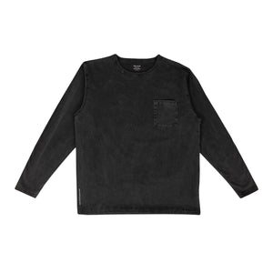 DELUXE – PINA COLADA LONGSLEEVE TEE (BLACK WASHED)