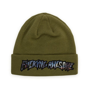 FUCKING AWESOME – EXTINCTION BEANIE (OLIVE)