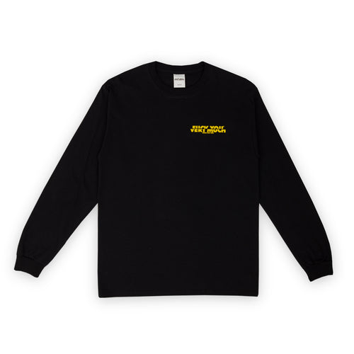 F**K YOU VERY MUCH – FYVM L/S (BLACK/YELLOW)