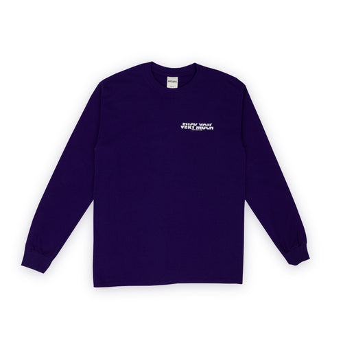 F**K YOU VERY MUCH – FYVM L/S (PURPLE/WHITE)