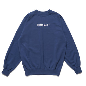 HUMAN MADE – RAGLAN SWEATSHIRT (NAVY)