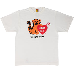 HUMAN MADE – TIGER HEART T-SHIRT #1808 (WHITE)