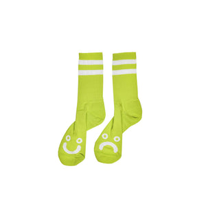 POLAR SKATE CO. – HAPPY SAD SOCKS (LIME)