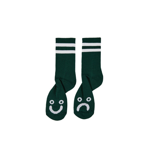 POLAR SKATE CO. – HAPPY SAD SOCKS (DARK GREEN)