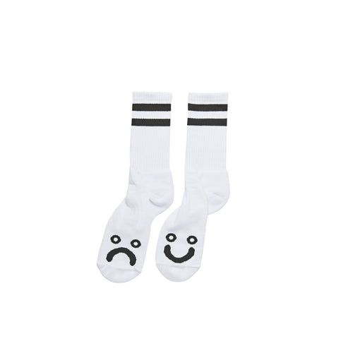 POLAR SKATE CO. – HAPPY SAD SOCKS (WHITE)