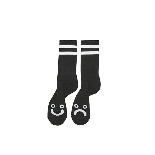 POLAR SKATE CO. – HAPPY SAD SOCKS (BLACK)