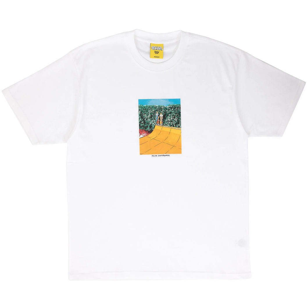 POLAR X IGGY – BOYS ON A RAMP TEE (WHITE)