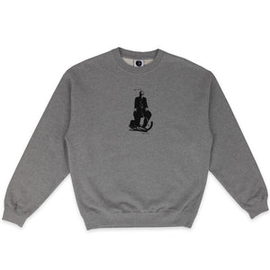 POLAR SKATE CO. – BRAIN BLOWER CREWNECK (HEATHER GREY)