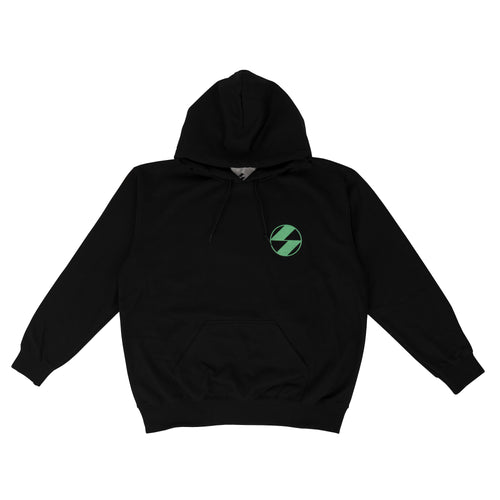 THE SALVAGES – NEON GREEN HOODIE (BLACK/NEON GREEN)