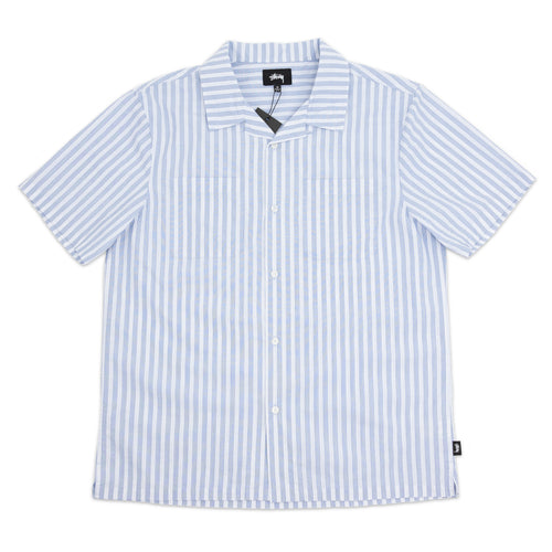 STÜSSY – OPEN COLLAR SHIRT (BLUE)
