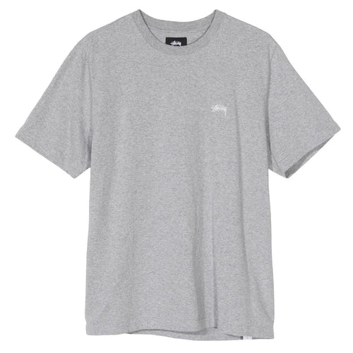 STÜSSY – STOCK S/SL CREW (GREY HEATHER)
