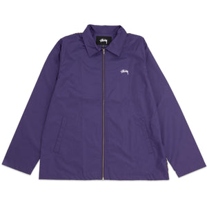 STÜSSY – LEOPARD PANEL JACKET (PURPLE)
