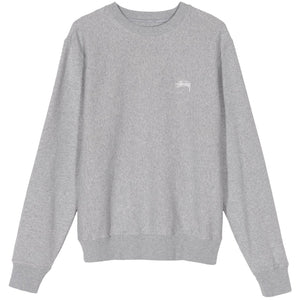 STÜSSY – STOCK LOGO CREW (GREY HEATHER)