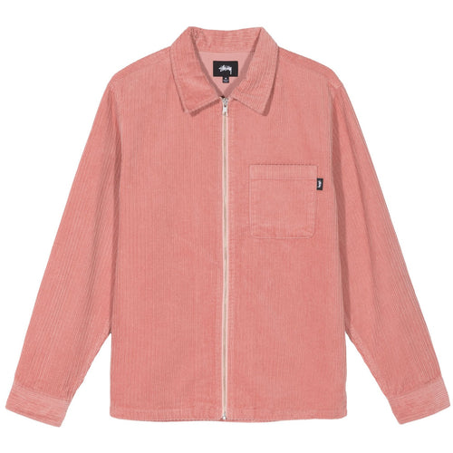 STÜSSY – BIG WALE CORD ZIP-UP L/S SHIRT