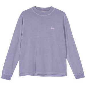 STÜSSY – MOCK L/S CREW (PURPLE)
