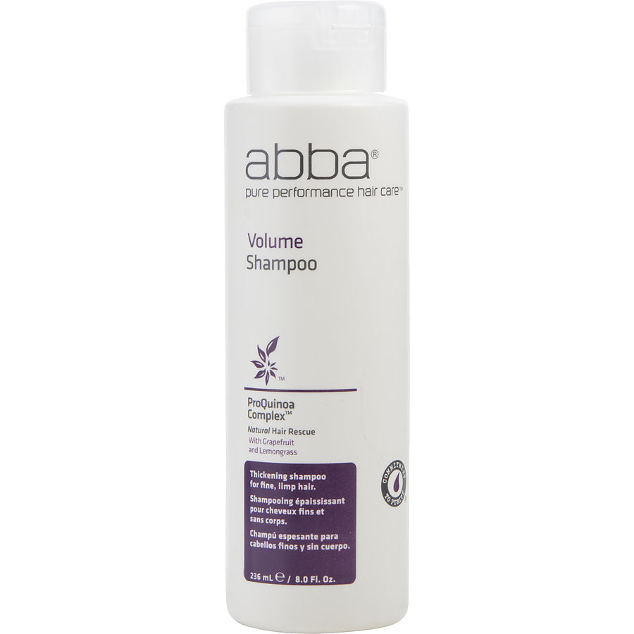 ABBA Unisex VOLUME SHAMPOO 8 OZ by ABBA Pure & Natural Hair Care