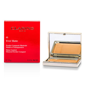 Clarins Women Ever Matte Shine Control Mineral Powder Compact - # 03 Transparent Warm --10g/0.35oz by Clarins