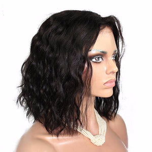 Liz'B' 12 Inch Bob Brazilian human hair short lace front wig super wave lace front wig - LIZ'B'HAIR