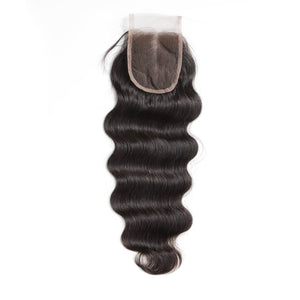 Liz'B' Brazilian Body Wave Human Hair Bundles With Closure Total 4Pcs/Lot 3 Bundles Hair Weft & 1 Piece Lace Closure - LIZ'B'HAIR