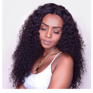 360 Lace Frontal Wigs For Women Brazilian Deep Wave Pre Plucked With Baby Hair Deep Wave Remy Human Hair Wigs - LIZ'B'HAIR