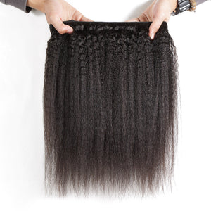 Luvin Brazilian Virgin Hair Kinky Straight Hair 100% Unprocessed Human Hair Weave Bundles Free Shipping - LIZ'B'HAIR