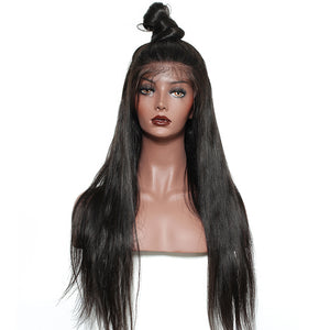 250 Density Lace Front Human Hair Wigs For Women Brazilian Frontal Wig Straight Lace Front Wig Natural Black SunnyQueen Remy - LIZ'B'HAIR