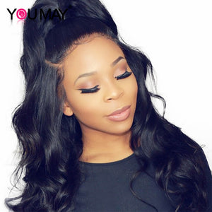 250% Denstiy Lace Front Human Hair Wigs  13x6 Pre Plucked Brazilian Body Wave Lace Front Wigs For Women - LIZ'B'HAIR
