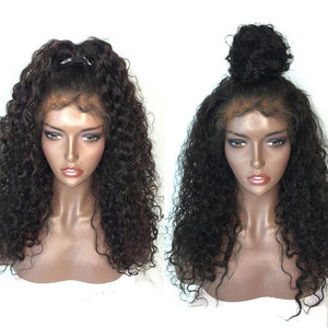 250% Density Pre Plucked Lace Front Human Hair Wigs Natural Black For Women Brazilian Curly Wig With Baby Hair - LIZ'B'HAIR