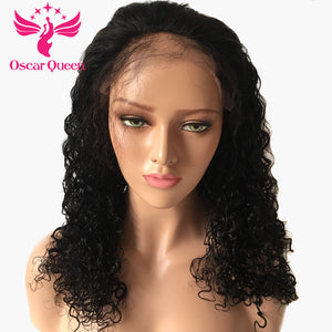 250% Density Water Wave Lace Front Human Hair Wigs For Black Women With Baby Hair Indian Hair Lace Frontal Wig Bleached Knots - LIZ'B'HAIR
