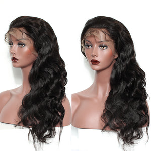 Glueless Full Lace Human Hair Wigs For Women Body Wave Full Lace Wig With Baby Hair 180 Density Virgin Natural Black Sunny Queen - LIZ'B'HAIR
